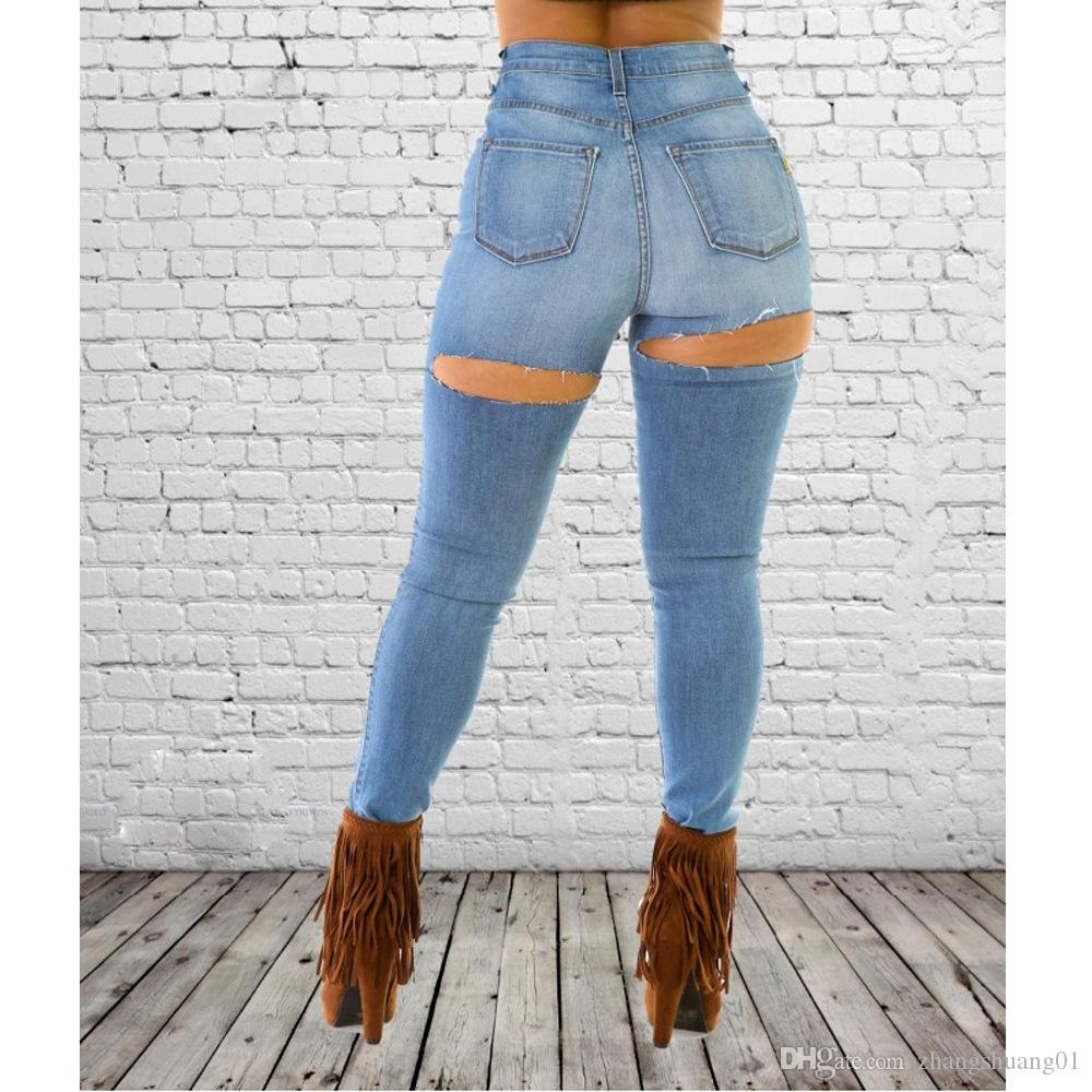 ass in jeans Sexy blue