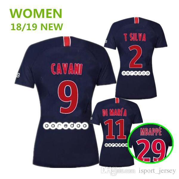 aac6ba73b Top Thailand Women Maillots Soccer Jersey 2019 Paris MBAPPE Saint Germain  JR Cavani Jersey 18 19 Survetement Football Shirt Girls Jerseys Soccer  Jersey ...