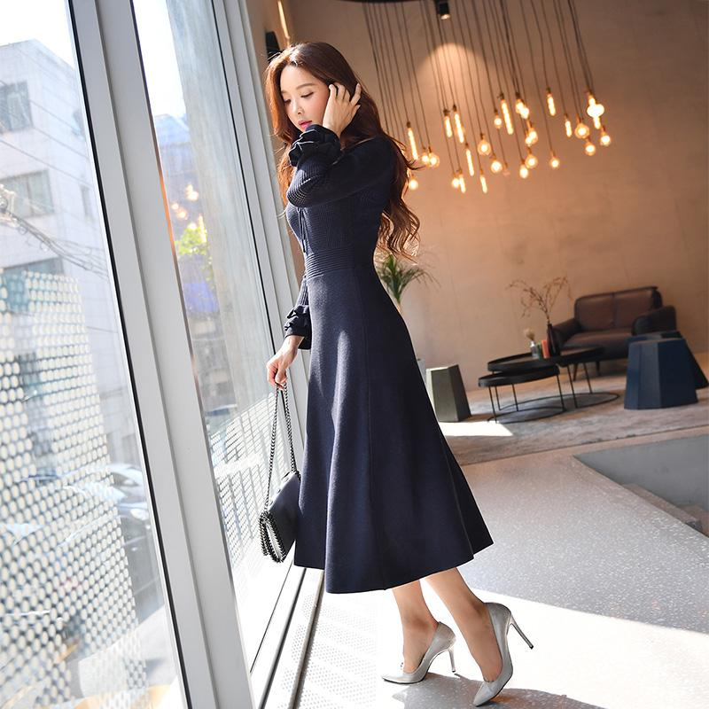e9076856d8a4 Dabuwawa Winter Two Piece V Neck Dress Butterfly Sleeve 2018 Vintage New  Elegant Slim Hollow Out Long Knit Midi Dress Dress 1 White Dresses For  Parties From ...