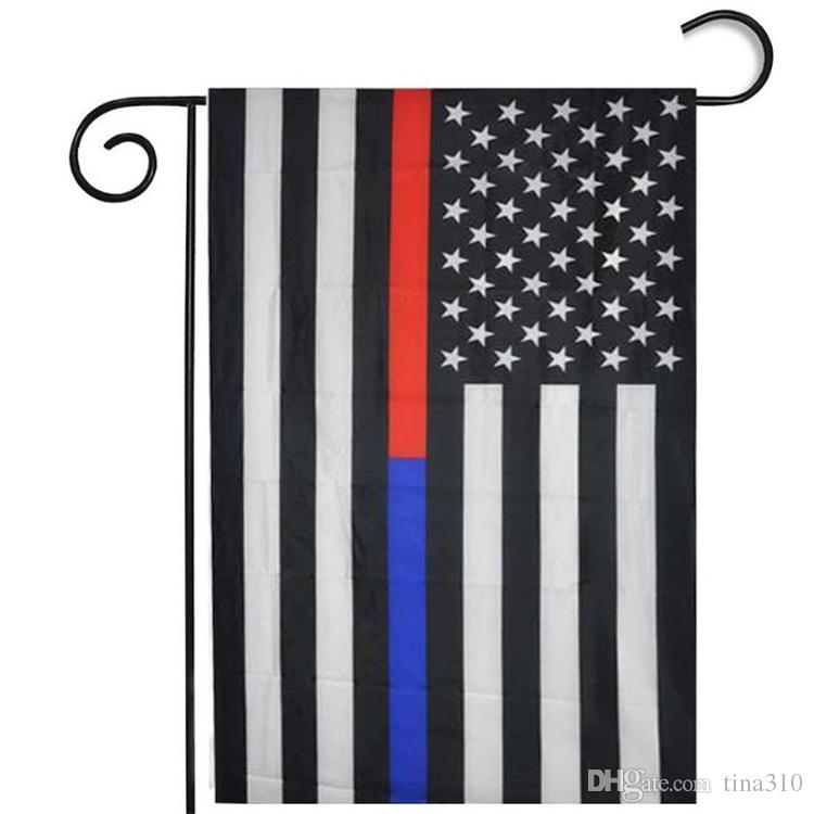 35 * 45 CM USA Bandiera da giardino in poliestere Decorazioni la casa Bandiera ROSSO Bandiera blu bianca in poliestere Stripes Stati Uniti Stars Banner Bandiere I239