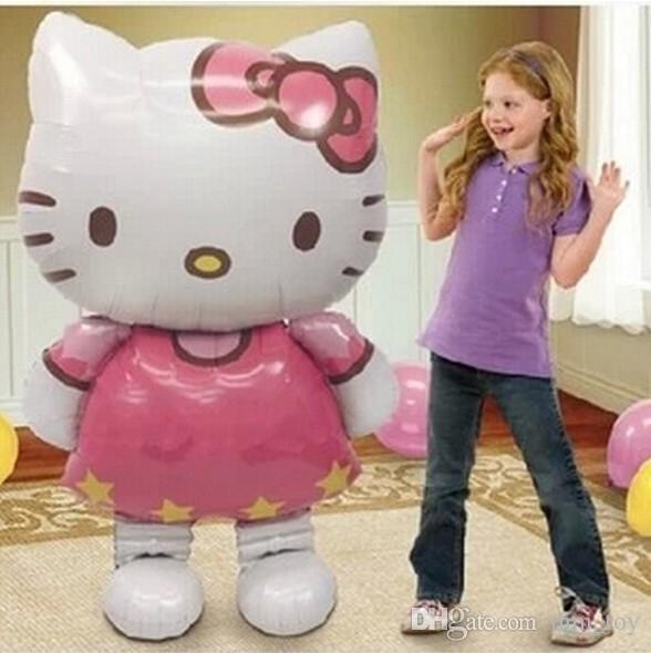 Cartoon KT Katze Aluminium Party Heliumballon Geburtstag Party Hochzeit Dekoration Lieferungen 64 * 108 cm nicht mit sauerstoff oder wasserstoff