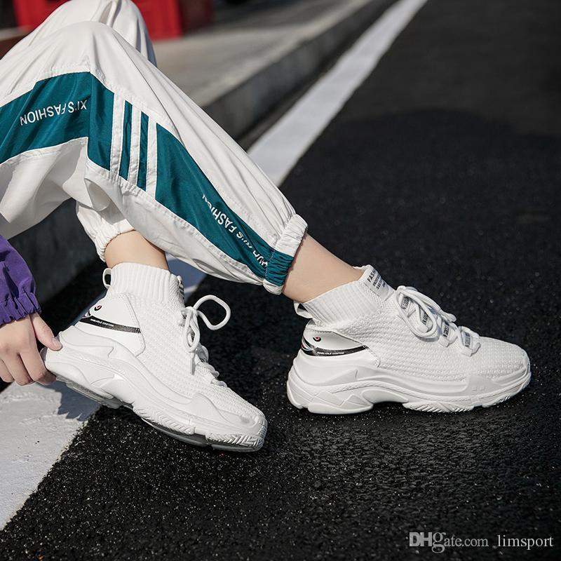 415a01fec289 Compre Los Amantes De Las Zapatillas De Deporte De Tiburón Mujeres Hombres  Transpirable Zapatos De Deporte De Punto Al Aire Libre Chunky Shoes High Top  ...