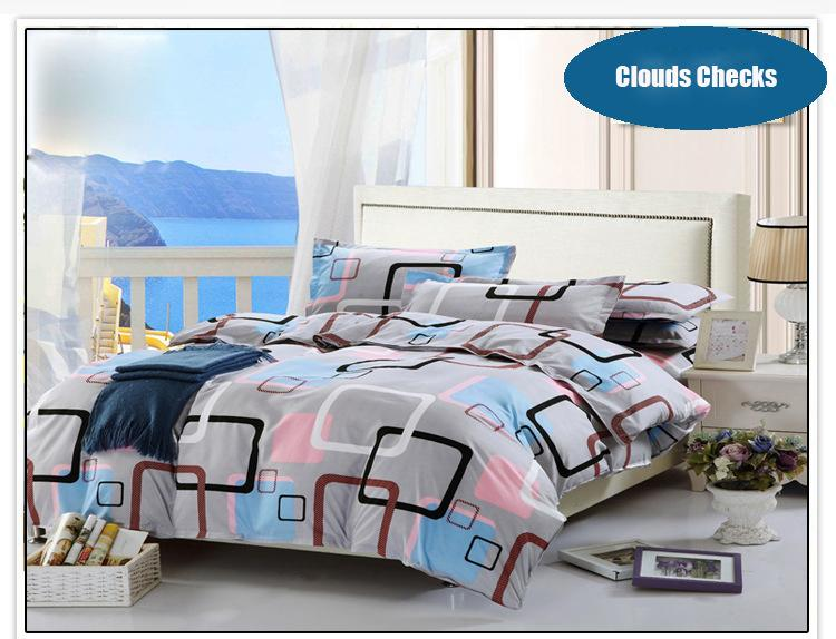 2bf7a58fc3 Luxury Checks Bedding Set Duvet Cover Set Include One Bed Sheet One ...