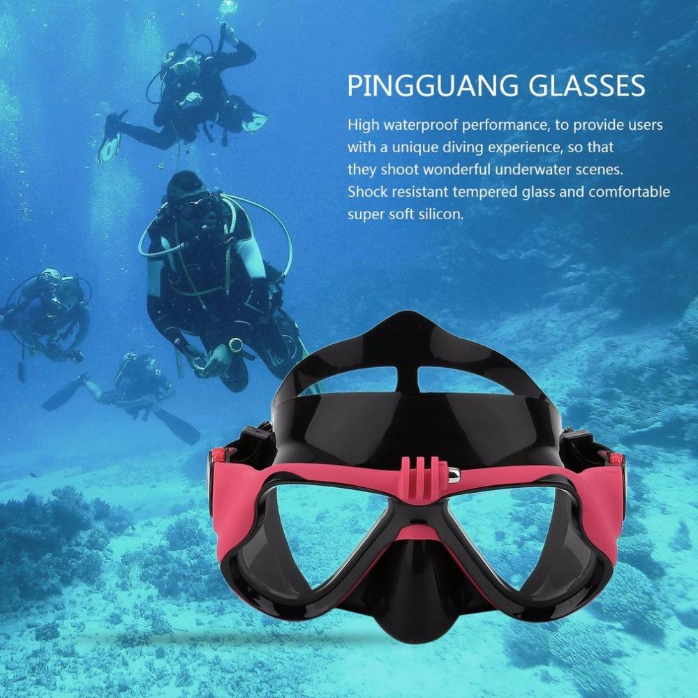 2018 New Professional Underwater Camera Plain Diving Mask Scuba Snorkel Swimming Goggles Suitable For Gopro Xiaomi Sports From Sport2017