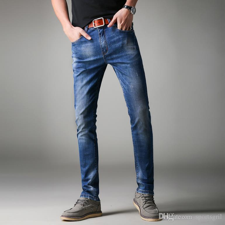 Man Blue Skinny Jeans Slim Fit Casual Denim Pants Mens Teenager Stonewashed  Jean Summer Spring Wear UK 2019 From Sportsgril 4a3986ca12df6