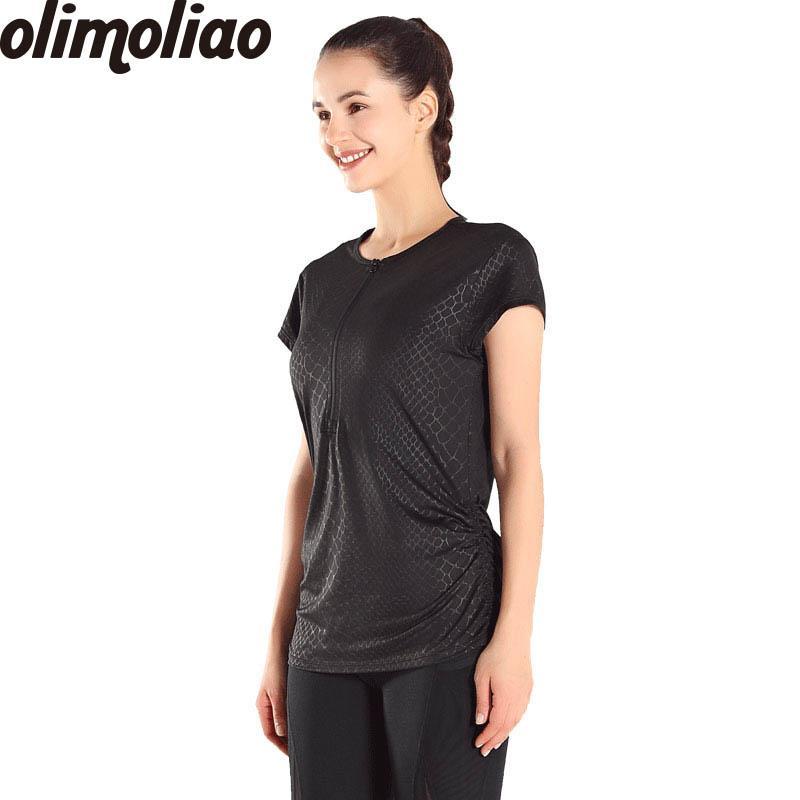 54ff35a5e30f4 Satın Al T Gömlek Için Fitness Için Kısa Kollu Giysiler Üstleri Kadın Kuru  Hızlı Gym Yoga Gömlek Tayt Kadın Spor Koşu Gym Fitness, $35.62    DHgate.Com'da