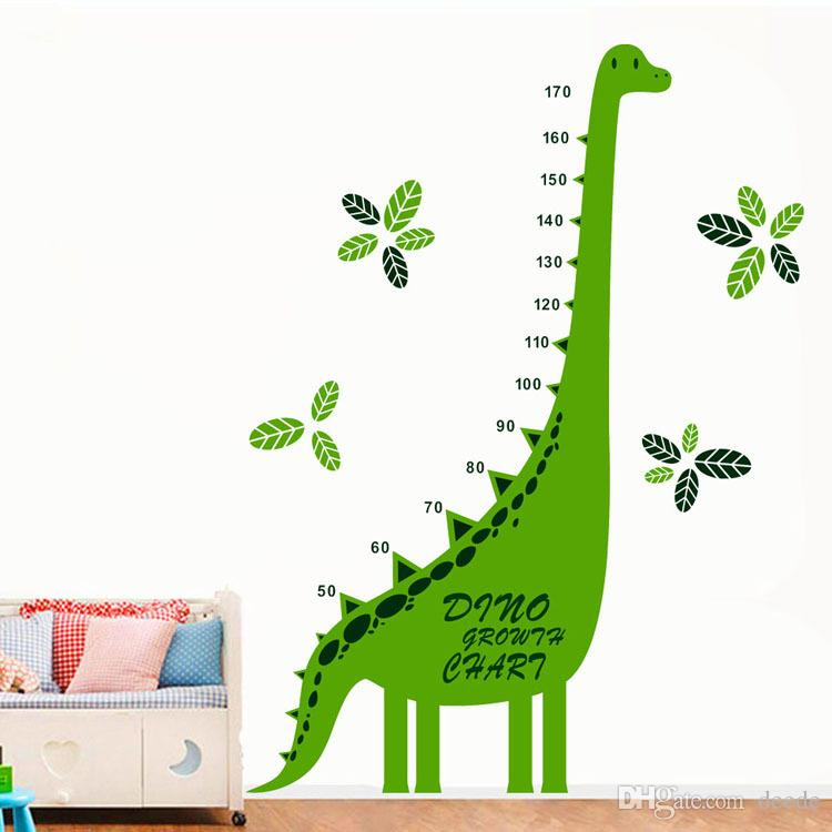 Dinosaur Grow Chart Tree Wall Stickers Wallpaper Wall Art for Home Decor Kitchen Accessories Household Crafts Suppllies