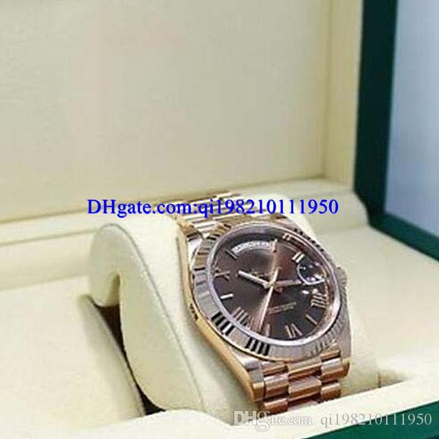 Christmas Gift mens watches President 40mm 228235 18K Rose Gold Chocolate Dial Watch NEW Dress Styles