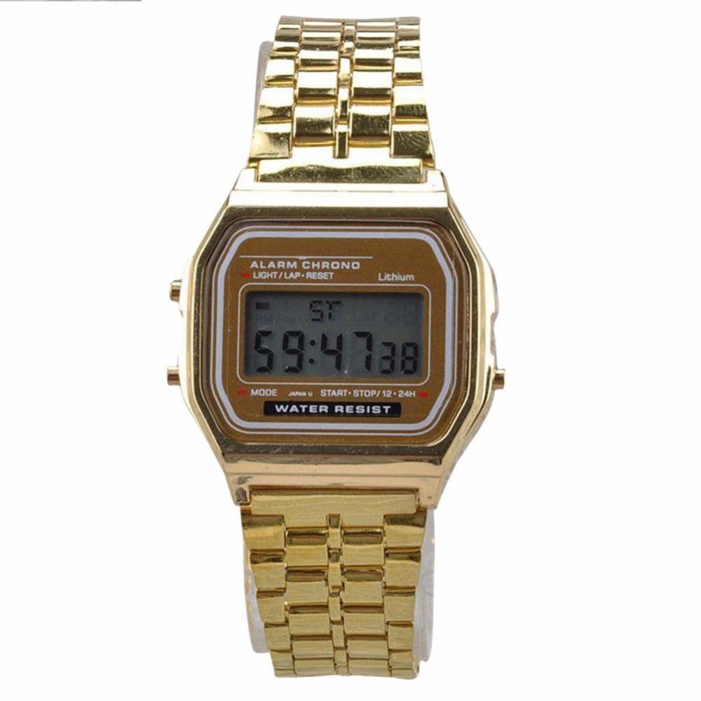 edb6ea66a3b7 Compre Reloj Para Hombre Reloj Vintage Pantalla Digital Electrónica Estilo Retro  Relojes De Plata Dorada Relojes Para Hombres A  22.6 Del Chuhuaiking ...