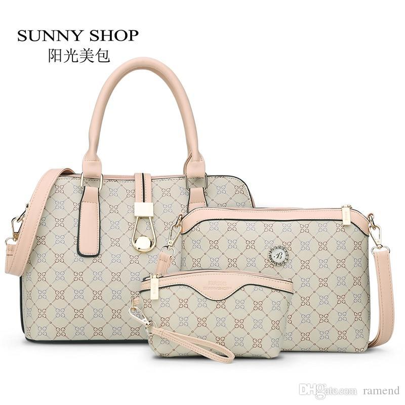 Wholesale SUNNY SHOP3 BagNew Mother Handbag Brand Designer Women Bag Letter  Striped Fashion Femal Bags Shoulder Bags Gift For Mother Laptop Bags  Leather ... 033d33daec104