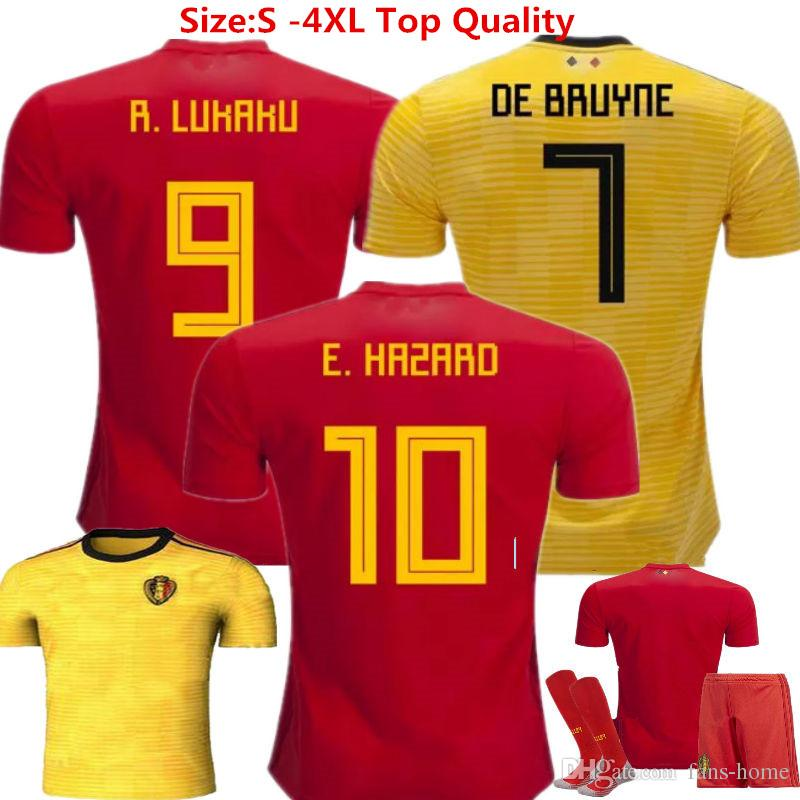 bc417270eae 2019 2018 Belgium Soccer Jersey Eden Hazard Camisetas De Futbol 18 19  Lukaku Witsel Fellaini De Bruyne Belgium World Cup Home Football Shirts  From Fans Home ...