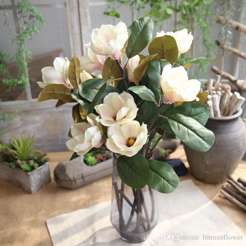 2019 Artificial Flower Silk Magnolia Flower Artificial Flowers