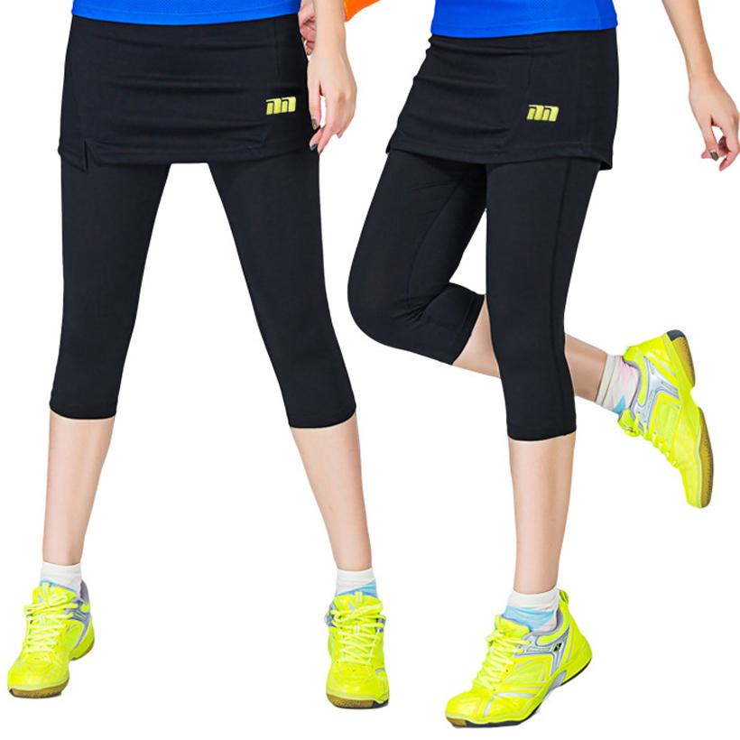 28b0f8ad2e73 2019 Women Badminton Dress Pants One Piece Suits Running Leggings Outdoor  Fitness Tennis Pants Skirts Gym Girl Badminton Tights Skirt From Simmer