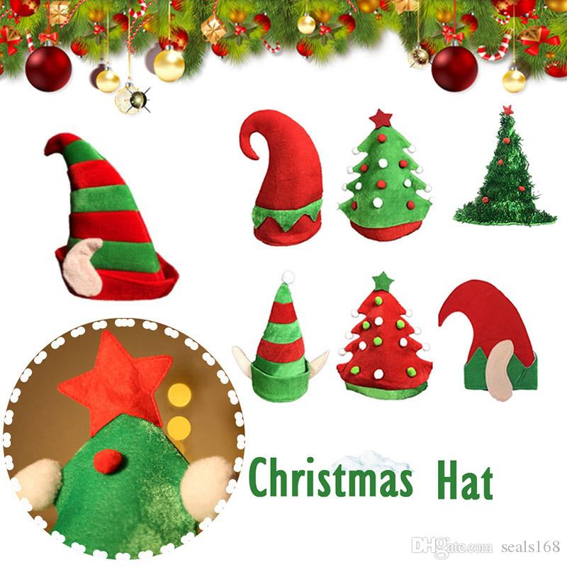 737711a11dba8 Christmas Elf Hats Christmas Tree Warm Flannel Beanies Caps For Adult And  Kids Cosplay Costume Party Hat Xmas Decoration Gifts HH7 1840 Party Hats  Supplies ...