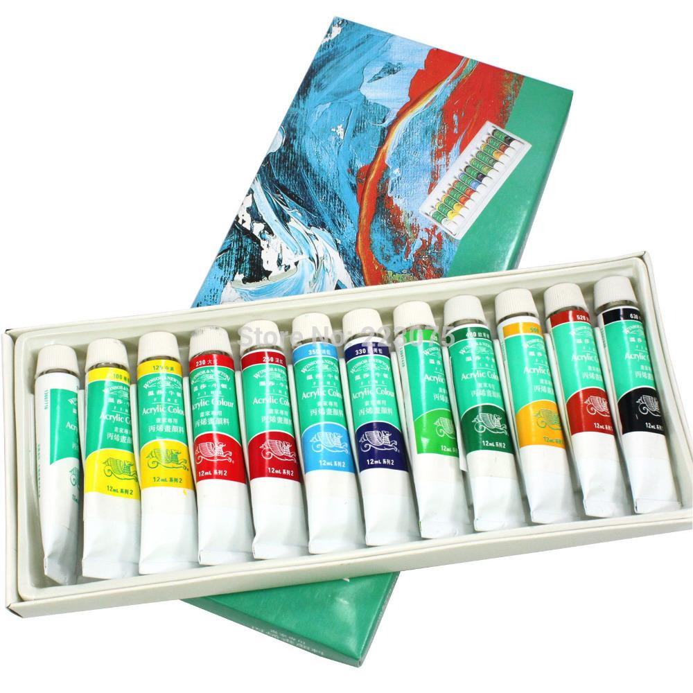 Hot 3d Acrylic Paint Tube Set Nail Art Uv False Tips Drawing Design