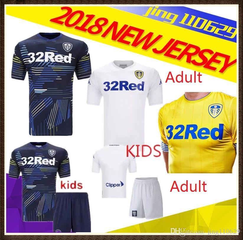 736ee55763c Adult Kids 18 19 Leeds United Jersey 2018 2019 ALIOSKI JANSSON ...