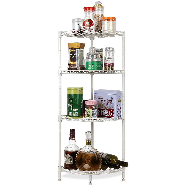2018 4layer Corner Corner Caddy Rack Shelves Shelf Storage Kitchen ...
