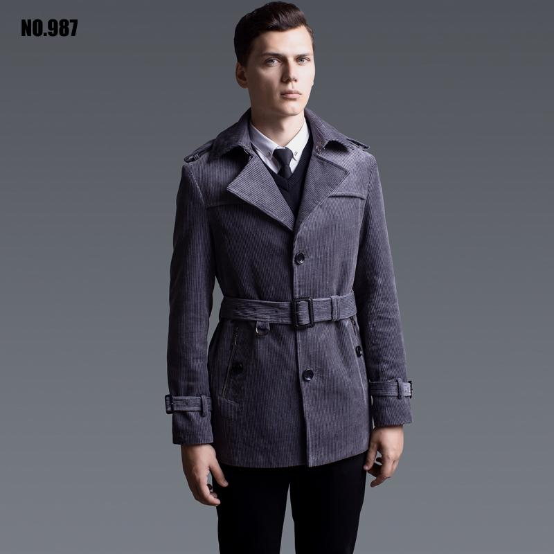 b0ce1e0bfd5 2019 Deerskin Velvet Long Trench Coat Mens Male 2017 Ultra Overcoats  Outerwear Plus Size Fashion Army. Men S Trench Coats Trenchcoats Zalando