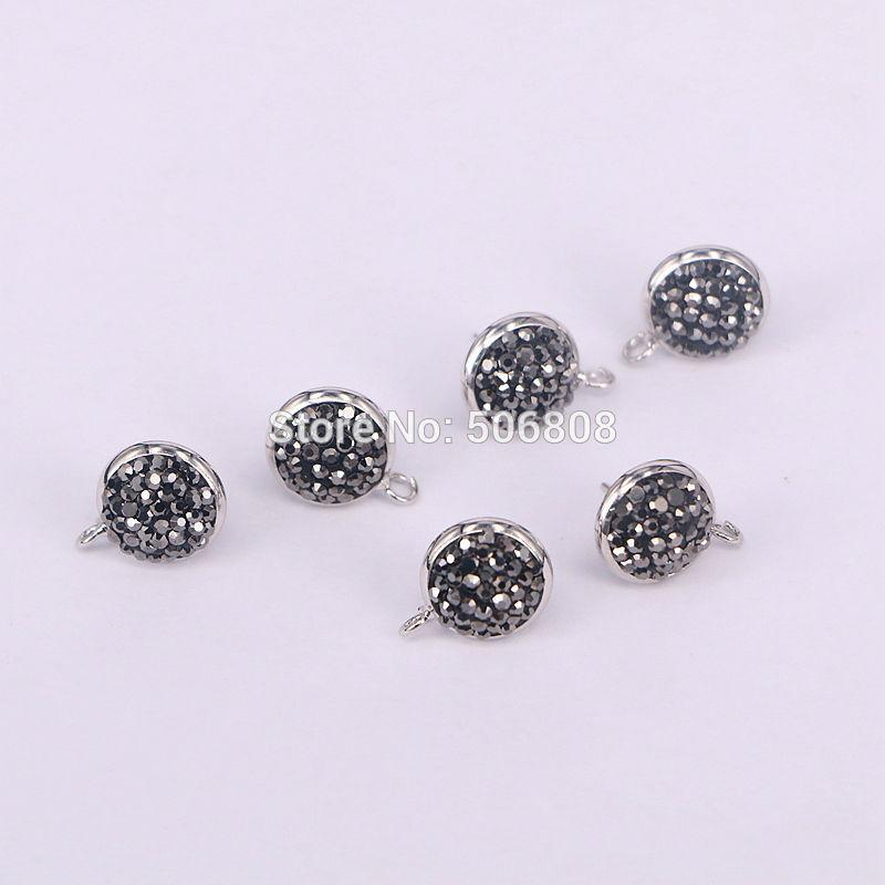 2019 Black   Gold Color Crystal Pave Round Earrings 1b9fdf6d56d6