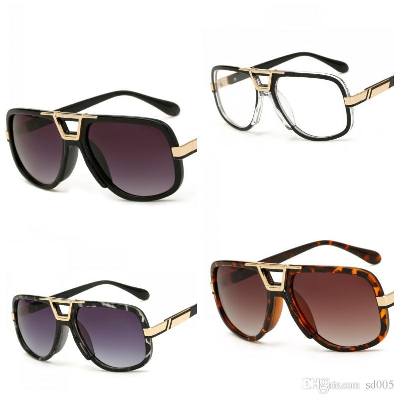 Retro Big Frame Sunglasses Creative Men And Women Multi Color Sun Glasses Ladies Fashion Quality Hinge Nose Eyeglasses Hot Sale 14 5ld Z