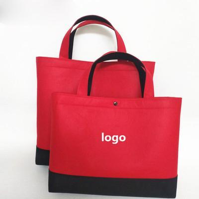 1dffb9df3 Compre Comercio Al Por Mayor 500 Unids / Lote Reciclar Tela De Fieltro De  Lana Reutilizables Bolsas De La Compra Personalizado Logotipo De La Empresa  ...