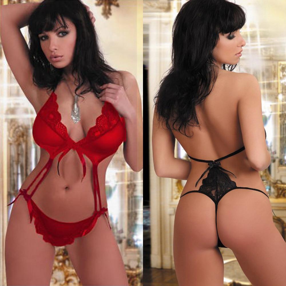 2019 Sexy Babydoll Women Lingerie Sexy Lace G String Underwear Sleepwear BK  XXL Pierced Jumpsuit Lingerie Black XXL Bra  Panty From Easme,  35.25    DHgate. c7586987e59