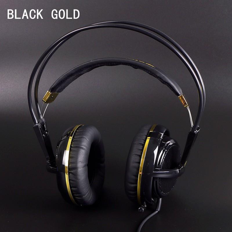 Black Gold Color Headset Steelseries Siberia V2 Brand Noise Isolating Game  Headphones For Headphone Gamer Fast Shipping