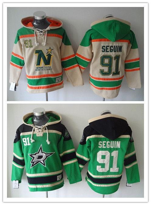 best service 65dc1 9469a Factory Outlet, #91 Tyler Seguin Hoodie Dallas Stars Stitched Men's Ice  Hockey Hoodies 1985