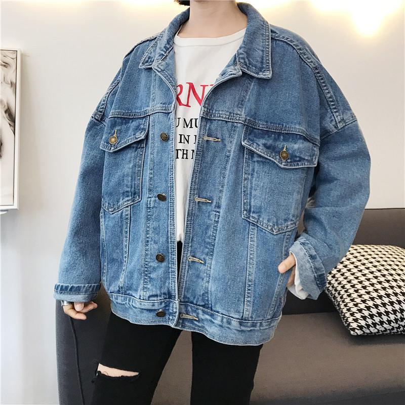 Veste Casual Acheter Jeans Vintage Femmes Korean 2018 Loose qwp4xSptT