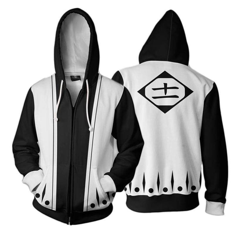 best loved e68fa b6fcb 3D Gedruckt Hoodie Anime Bleach Kenpachi Zaraki Cosplay Kostüme  Trainingsanzug Reißverschluss Kapuzenjacke Sweatshirt Streatwear Mantel