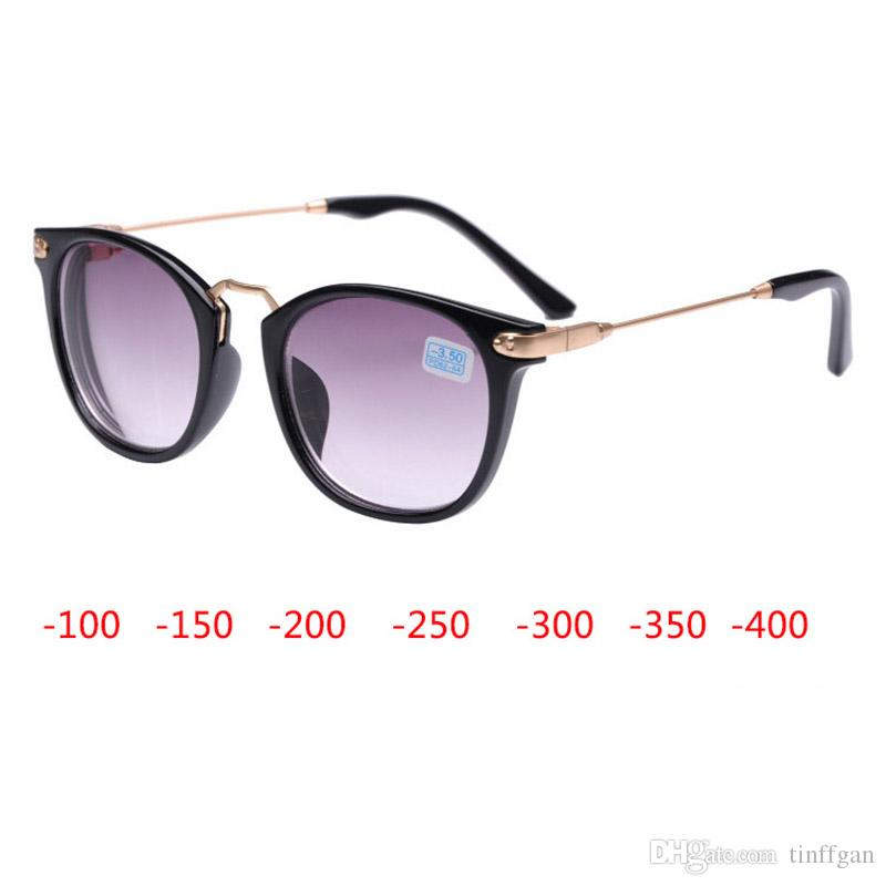 b103992392a Good Quality Finished Myopia Sunglasses Men Women Myopia Eyeglasses Frame  With Gradient Color Lens Sun Glasses Myopia Eyewear 1.0 4.00 Toddler  Eyeglass ...