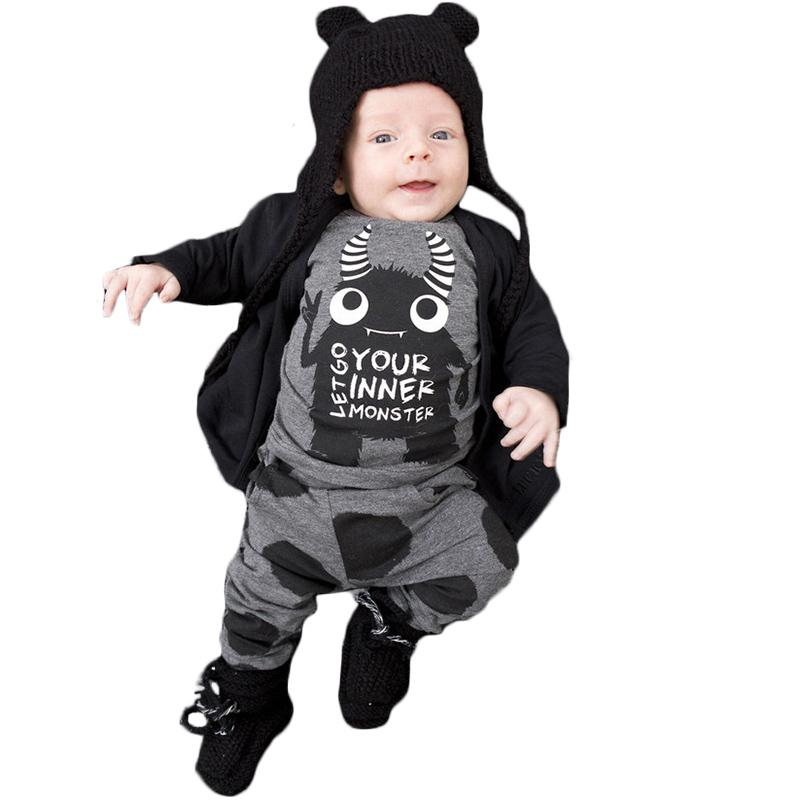 474cc2e89 2019 2018 Hot Selling Fashion Baby Boys Girls Clothing Set Infant ...