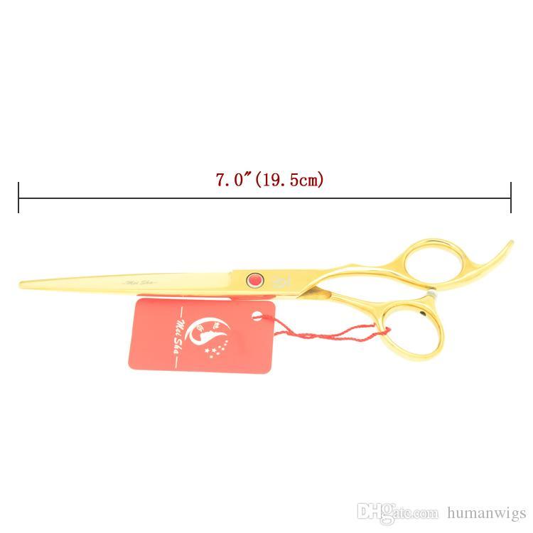 7.0 Inch Meisha Giappone 440c Professionale Taglio Dei Capelli Cesoie Golden 6.5Inch Thinning Scissors Set Salon Tijeras Hair Styling Tools HA0358