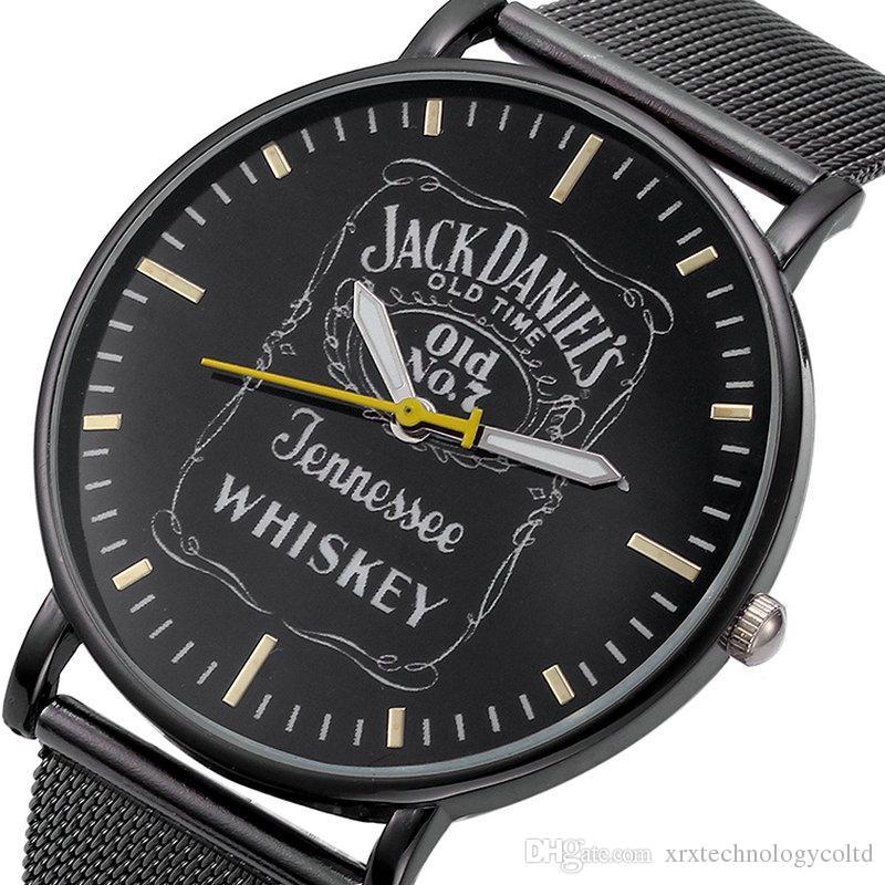607cbb533c8 2018 New Fashion Women Men Metal Jack Daniels Whiskey Ladies Quartz Watch  Mesh Steel Wrist Watch Online Buy Watches Buy Online Watch From  Xrxtechnologycoltd ...