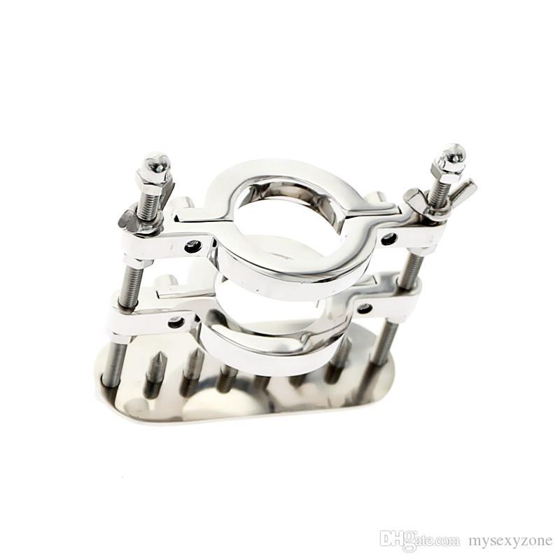 Privater MKR908C-4 Edelstahlkugel-Strecker, Hodensackstretcher, Ball-Splitter mit Crusher, Crotum-Ring