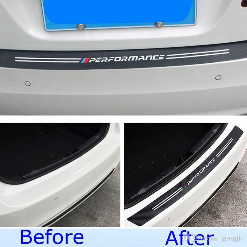 Trunk Tail Carbon Fiber Texture Bumper Guard Decor Performance Sticker Trim For BMW M3 M4 Z4 X1 1 2 3 4 5 6 7 Series