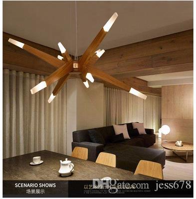 Modernas Luces Colgantes Para Comedor Modern Suspention Wooden ...
