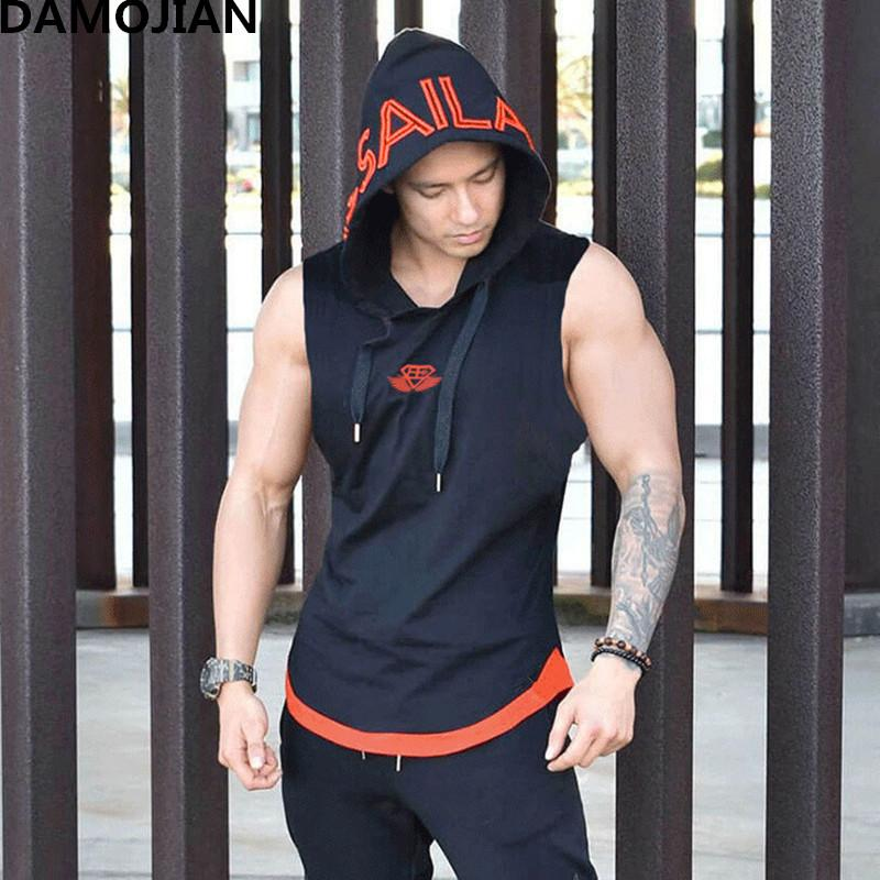 f5ead0383 2019 2018 New Brand Clothing Men Sleeveless Hoodie Bodybuilding Fitness Men  Gyms Tank Top Golds Vest Stringer Sportswear T Shirts From Netecool, ...