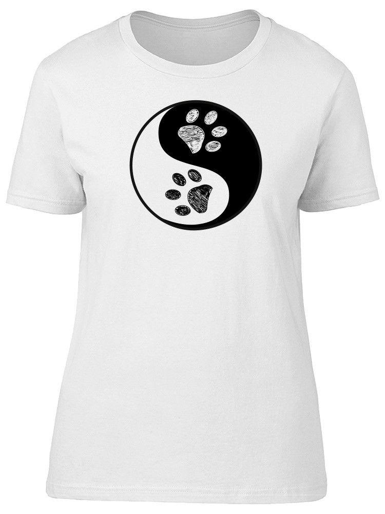 30edb6573 Ying Yang With Bear Paws Women'S Tee Image By Shutterstock Novelty T Shirt  Funny Printed T Shirts From Bincheng4, $11.63| DHgate.Com