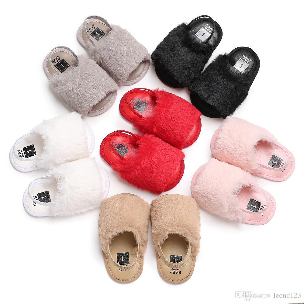 9ac0f26de Compre 2018 Moda De Piel Sintética Bebé Zapatos De Verano Sandalias De Bebé  Infantil Suave Suela Suave Niños Niñas Y Niños Zapatillas De Interior  Sandalias ...