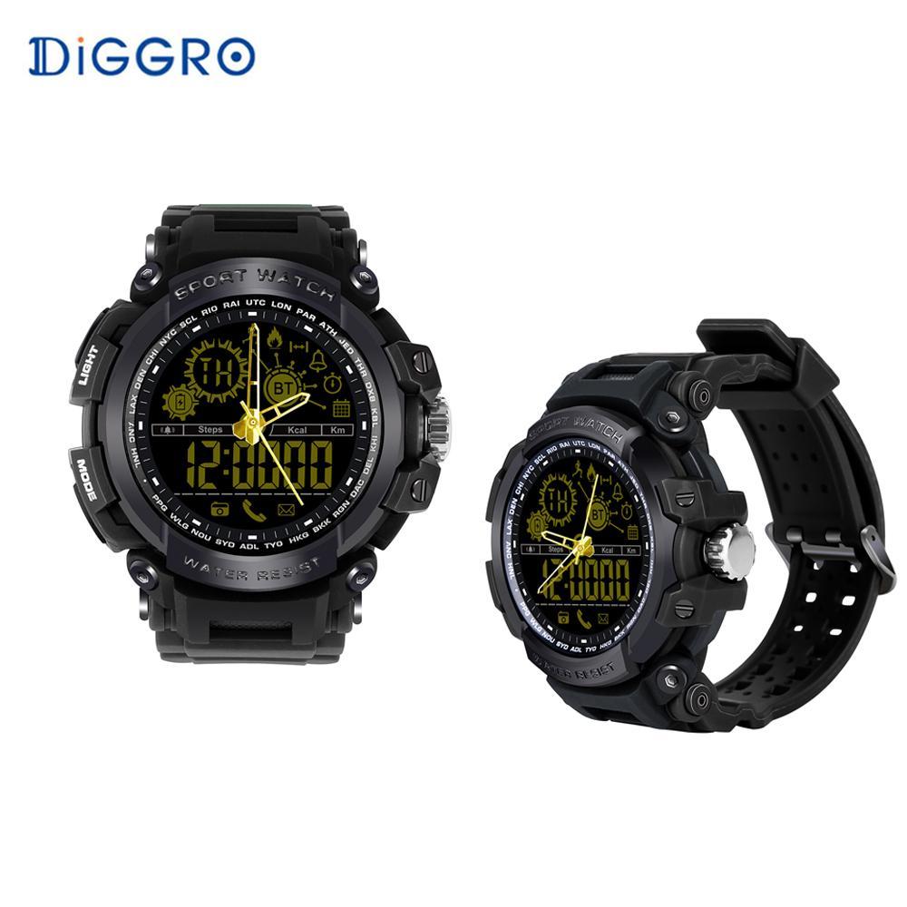 b67c640fe78e Relojes Para Hombres Diggro DI10 Reloj Deportivo Inteligente IP68 Resistente  Al Agua Pedomete Tiempo De Espera Largo 4.0 Reloj Elegante De 1.21 Pulgadas  ...