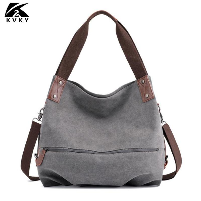 KVKY Hot Fashion Women S Canvas Totes Handbag Bag Lady Canvas Hobos Shoulder  Bag Female Large Capacity Casual Hobo Bags Designer Bags From Classycolor b1bf970ce458c