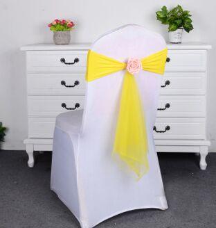 Wholesale Elegant Chair Sashes Elastic Party Wedding Chair Cover Banquet Chair Decoration Wedding Supplies