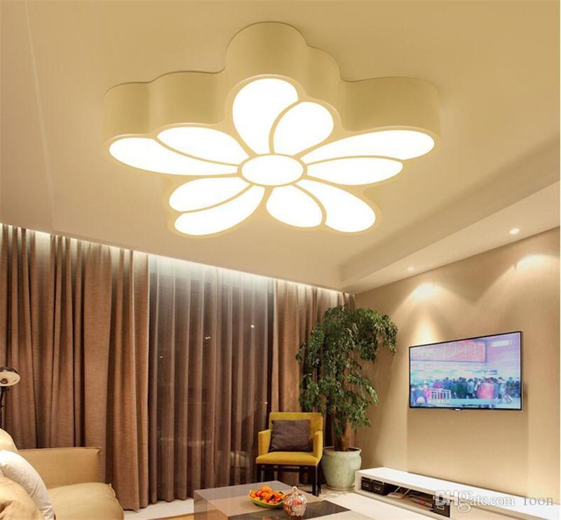 Großhandel R7 Modern Acryl Design Deckenleuchten Schlafzimmer Wohnzimmer 90  ~ 260 V Weiß Deckenleuchte LED Hauptbeleuchtung Leuchten Von Roon, $156.19  ...