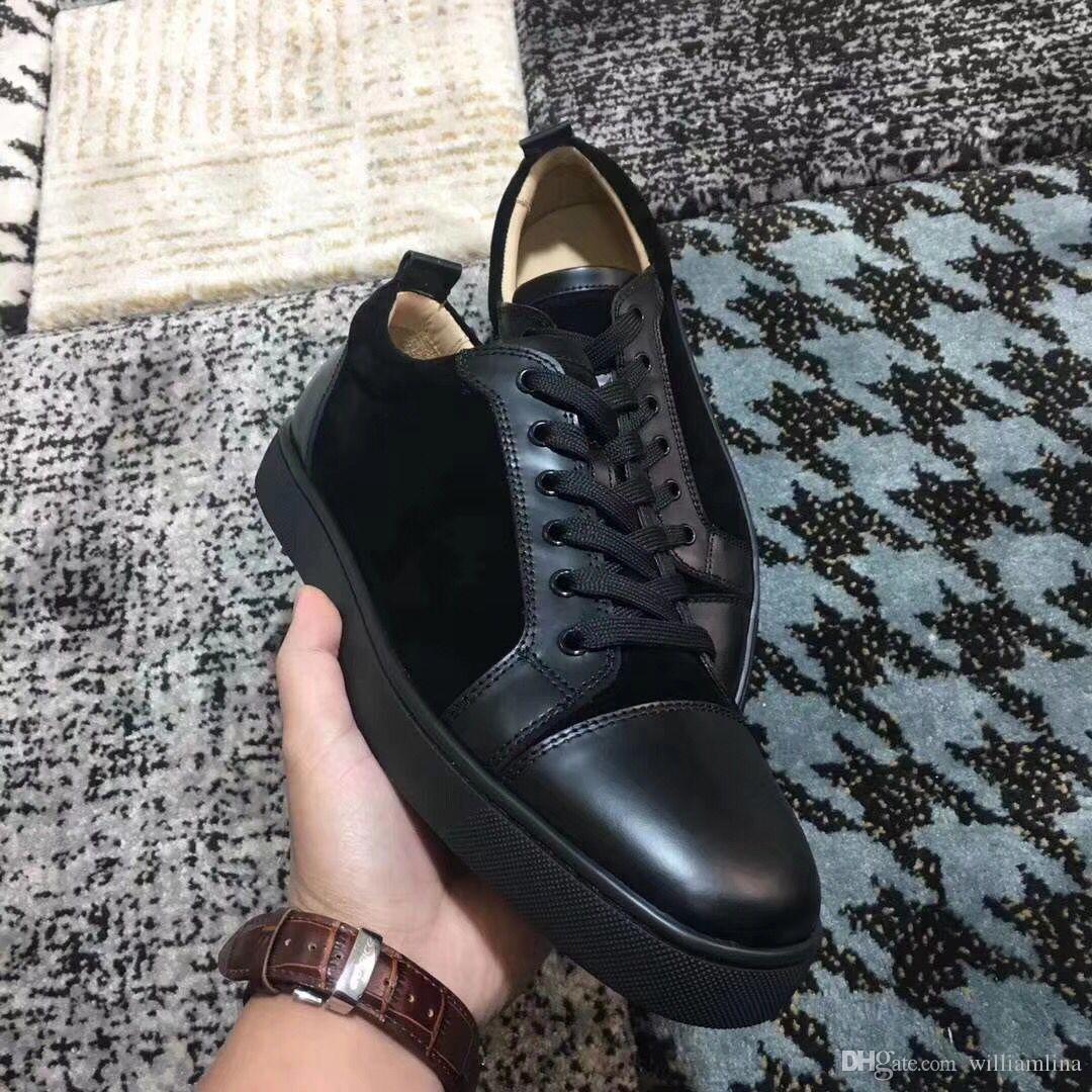Designer Brand Men Women Low Top Red Bottom Shoes Junior Sneakers ... 2d82ff54729b