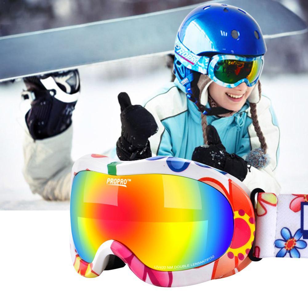 pas cher la réputation d'abord meilleure vente Nouvelle version enfants lunettes de ski snowboard lentille antichoc  colorant revêtement chaud respirant en plein air anti-brouillard lunettes  de ski