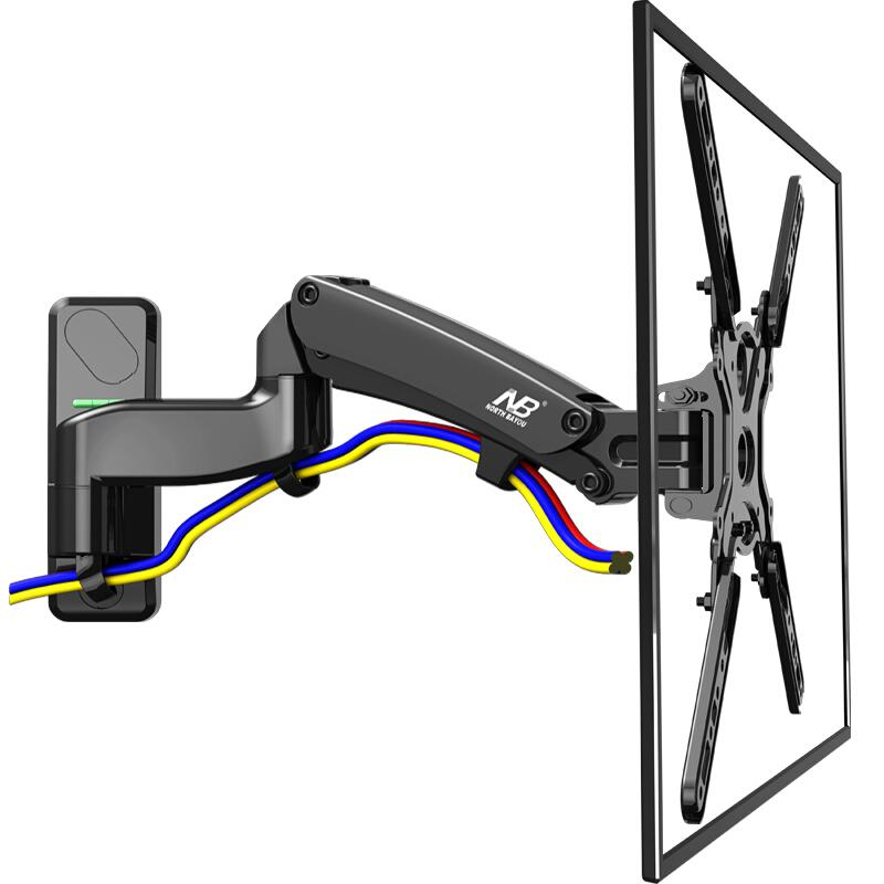 Nb F500 Tv Wall Mount 50 60 Inch Lcd Monitor Holder Gas Spring Free Lifting Swivel Stretchable Stands Long Arm Tv Hang Bracket Home Theatre Installation ...