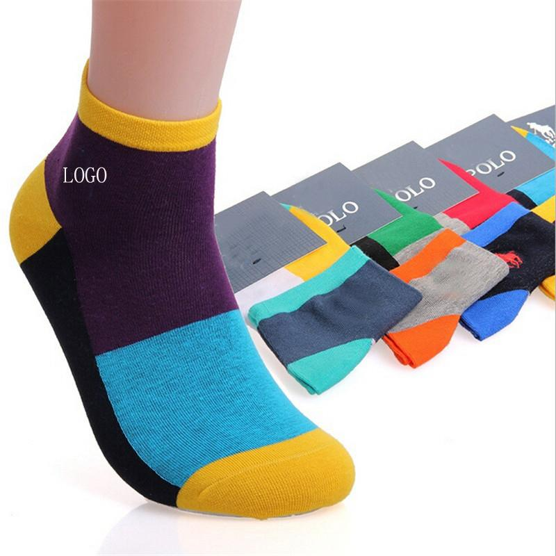 Men's Socks Trend Mark New Arrival Colored Men Striped Cotton Crew Happy Sock Casual Harajuku Designer Brand Business Dress Novelty Sox Chaussettes Year-End Bargain Sale