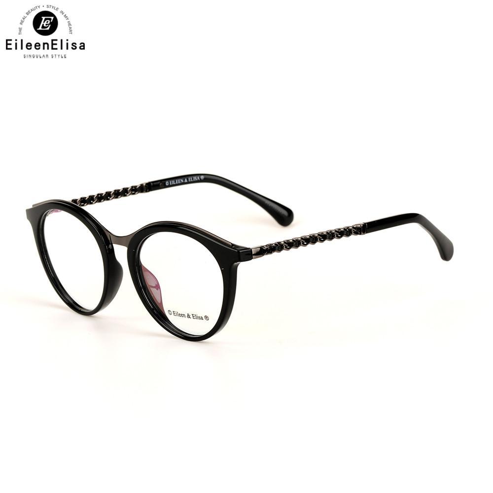 6da34e6fa625 2019 EE 2017 Acetate Eyeglasses Frames Women Clear Lens Retro Optical Frame  Vintage Glasses Frame Spectacle Prescription Eyewear From Haroln