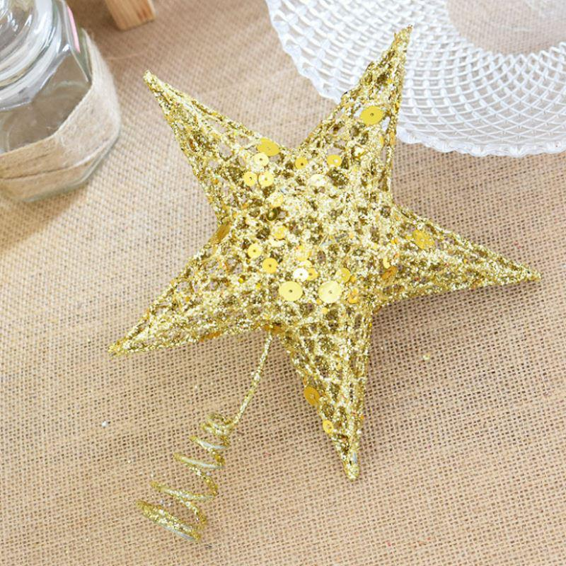 pentagonal stars christmas tree star topper iron tree top vintage bling golden xmas ornaments new year home decoration p20 christmas decoration designs